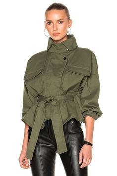 Image 1 of Marissa Webb Kayla Anorak in Military Green Love Fashion, Autumn Fashion, Fashion Outfits, Fashion Tips, Fashion Design, Military Inspired Fashion, Military Fashion, Trenchcoat Style, Mode Mantel