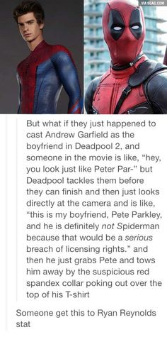 Message to Deadpool, read this...
