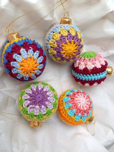 Crochet Christmas Ornament Inspiration  ❥ 4U // hf
