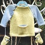 DIY Knitting DIY Yarn : DIY Knit a baby baseball tee with mittens
