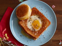 Hangover Toad-in-the-Hole Grilled Cheese Sandwich recipe from Food Network Kitchen via Food Network