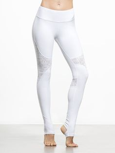 West Coast Leggings in White/buff by Alo Yoga from Carbon38