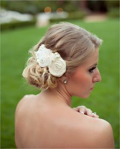 hairpiece by Handmade by Sara Kim