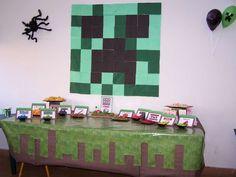 Minecraft Birthday Party Birthday Party Ideas  Napkin Centerpice, love it