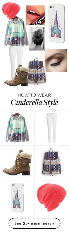 """Untitled #87"" by lilprezby on Polyvore featuring Paige Denim, Disney, Fiebiger, Charlotte Russe and Coal"