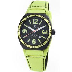 Montres De Luxe Men's ' Avio Summer' Lime Green Only Time Watch