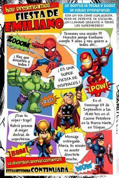 Kikita-Manualidades: Invitación Superhéroes - Visit to grab an amazing super hero shirt now on sal