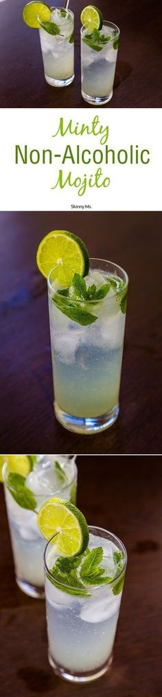 Minty Non-Alcoholic Mojitos are the perfect drink for kicking back and cooling off!
