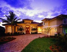 Mediterranean Dream - 66271WE | Florida, Mediterranean, Luxury, Photo Gallery, Premium Collection, 1st Floor Master Suite, CAD Available, Den-Office-Library-Study, MBR Sitting Area, PDF, Split Bedrooms | Architectural Designs