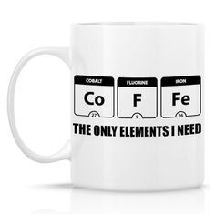 periodic table of elements coffee mug funny coffee mug unique coffee mugs coffee lover gift
