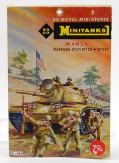 ROCO Minitanks Manual Z-184, HO Model Miniatures, Identification Guide 1964, Tanks, Hobby, Military, War, ID Book by QueeniesCollectibles on Etsy