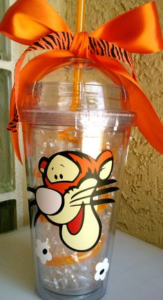 Customized 16 oz Winnie the Pooh and Tigger by SoFabDesigns, $18.00