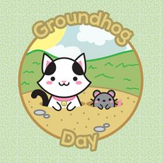Today is the groundhog day! Will it rain? Today is the groundhog day! Will it rain? Today is the groundhog day!! Hey! It's repeating!!! =O – Hoje é o dia da marmota! Será que vai chover? Hoje é o dia da marmota! Será que vai chover? Hoje é o dia da...