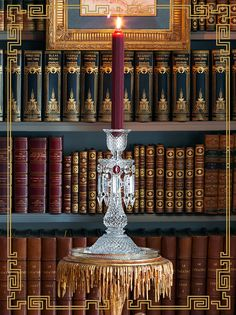 """""""La Vie en Baccarat"""": tabletop, gifting and decor, an elegant vision styled by Carolyne Roehm, at her Connecticut home, for Baccarat. Candelabra, Candlesticks, Story Tale, Crystals In The Home, Home Libraries, Wish Come True, Oil And Gas, Some Ideas, The Conjuring"""