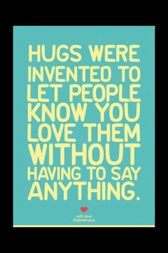 Hugs are important