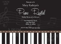 26 best piano recital invitations images on pinterest piano