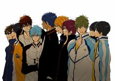 Kuroko no Basuke and Iwatobi crossover art is so hard to find... T^T I must find all of them and post them onto this board! >:D