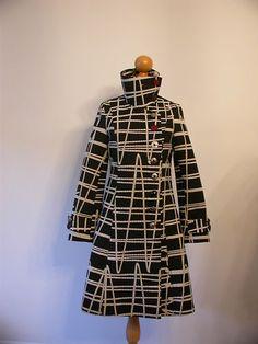 Desigual black/white coat.