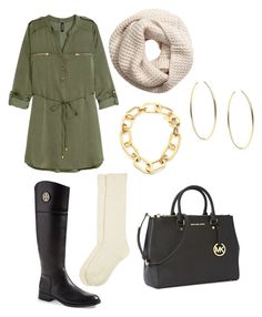 """FALL "" by marionamelia ❤ liked on Polyvore featuring мода, H&M, Tory Burch, Monsoon и Michael Kors"