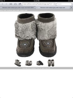 Grey Muck-luck boots Softmoc Size:6