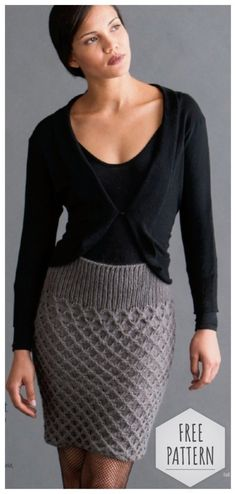 Knit like - share in the comments Stylish, unusual and original knit skirt without seams. Crochet Skirts, Knit Skirt, Crochet Clothes, Knit Dress, Dress Skirt, Knit Wear, Moda Crochet, Knit Crochet, Crochet Woman