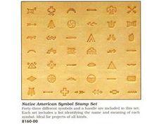 Stemple do skóry - zestaw symbole indiańskie