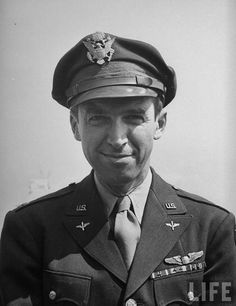I really admire this man. Jimmy Stewart after his tour of duty in WWII. Enlisted as a private, became a pilot, flew LOTS of COMBAT missions as a B24 pilot over Germany and retired as a Brigadier General. And a pretty good actor too....