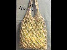 七宝編みの麻ひもバッグNO.2 - YouTube Crochet Market Bag, Crochet Videos, Knit Crochet, Knitting, Crafts, Women, Handmade, Crochet Purses, Tutorials