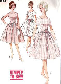 1960s Misses Party Dress