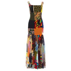 1stdibs | DOLCE & GABBANA silk patchwork dress