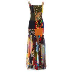 1stdibs | DOLCE & GABBANA silk patchwork dress