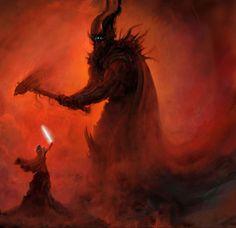 Finglofin battles Morgoth. The Silmarillion
