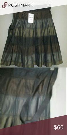 🍒Zara🍒 Metallic skirt sz Medium NWT Brand new flowy skirt with tags. More pics and measurements to follow. Zara Skirts Circle & Skater