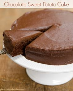 Chocolate Sweet Potato Cake with Chocolate Sweets Frosting  www.plantpoweredkitchen.com