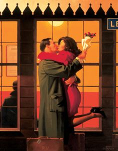 Back Where You Belong by Jack Vettriano. Massive range of art prints. Quality UK framing & Money Back Guarantee! Jack Vettriano, Drawings Of Love Couples, Love Drawings, Disney Drawings, Jack O'connell, Romance Art, Pulp Fiction, Drawing People, Pin Up