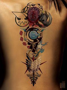 Anime Tattoo by GS _ ALPHA COMM by Proto-jekt.deviantart.com on @DeviantArt