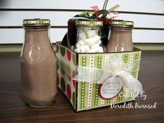 Hot cocoa gift set  ~ could fill with candies also