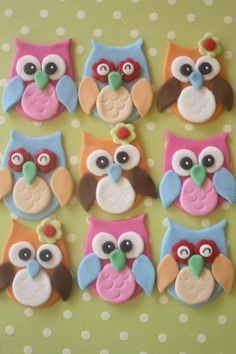 fondant cupcakes toppers