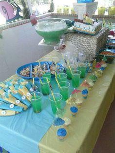 Dessert table....Seaweed Juice