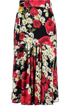 Discount designer clothes for women sale Red High Waisted Skirt, Full Midi Skirt, Black Pleated Skirt, Blouse And Skirt, Waist Skirt, Patterned Skirt, Printed Skirts, Printed Silk, Skirt Outfits