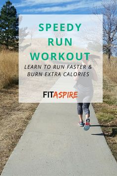 This running speed workout is meant for runners who just want to get in a good workout. It's not race specific, but a great way to add variety and burn a few extra calories! (via @fitaspire)