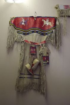 Native American Quilled Buckskin Dress