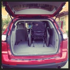 Chevy Traverse Trunk With Wheelchair