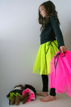 fluoro tutu (+ matching for dolls)