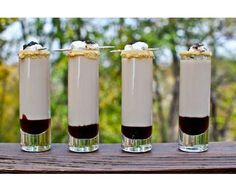 Smoretini Shooters - a grown up version of Smores.