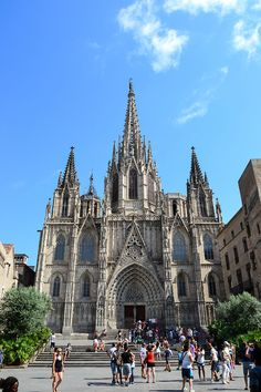Cathedral of the Holy Cross and Saint Eulalia in Barcelona. A historic church in Spain that houses the bodies of Saints, Crusaders, and rulers alike. Within it also is contained a chapel holding relics from the Battle of Lepanto. Visit Barcelona, Barcelona City, Barcelona Travel, Barcelona Cathedral, Battle Of Lepanto, Gothic Cathedral, Spain And Portugal, Santa Lucia, Spain Travel