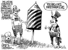 Fourth of July-Humor-Cartoon