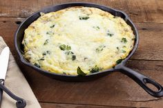 Rustic Garden Love Frittata     --  Broccoli, dulse, and cheese