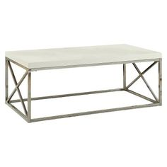 Great Price! Monarch Metal Coffee Table - White
