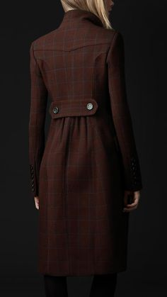 Burberry - VIRGIN WOOL TAILORED TOP COAT; just not cold enough here-but classic style!